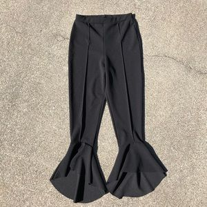 Black stretchy flare Missguided pants